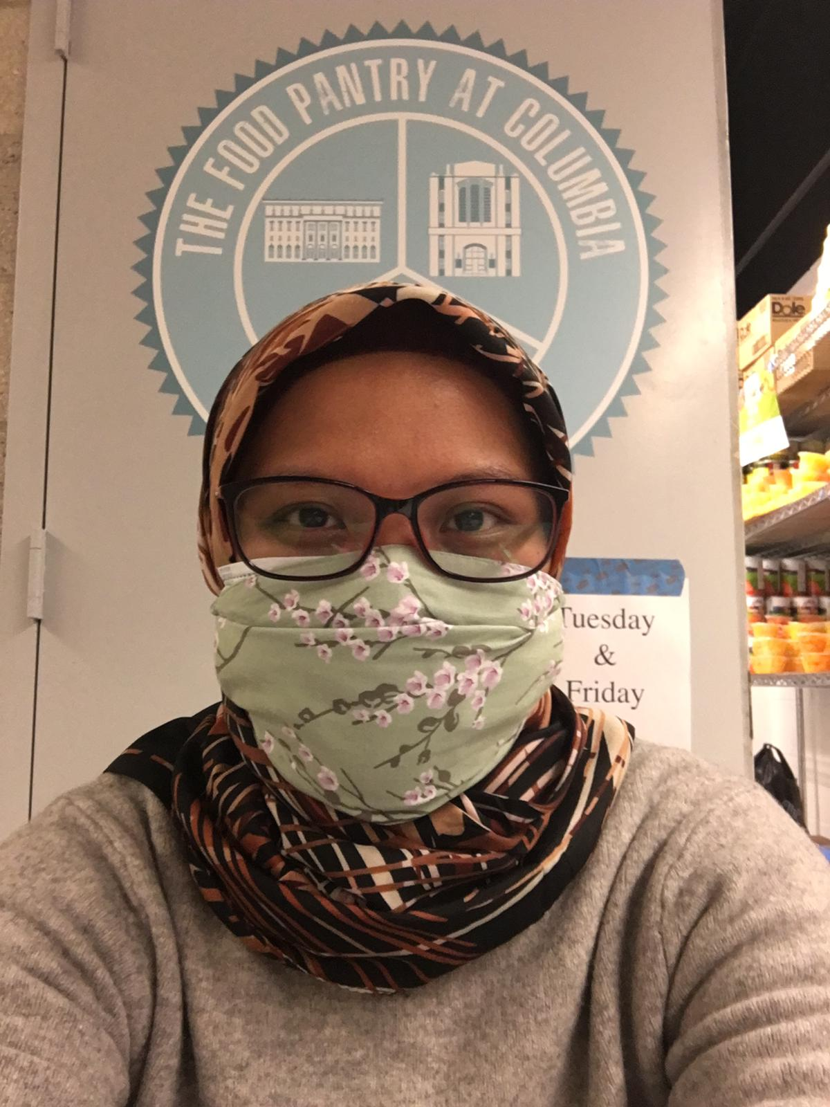 Volunteering at the Food Pantry at Columbia University – Adibah Murthado – Indonesia 2020