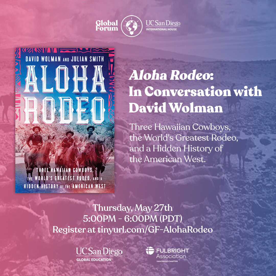 San Diego Chapter Event –  Aloha Rodeo: In Conversation with David Wolman