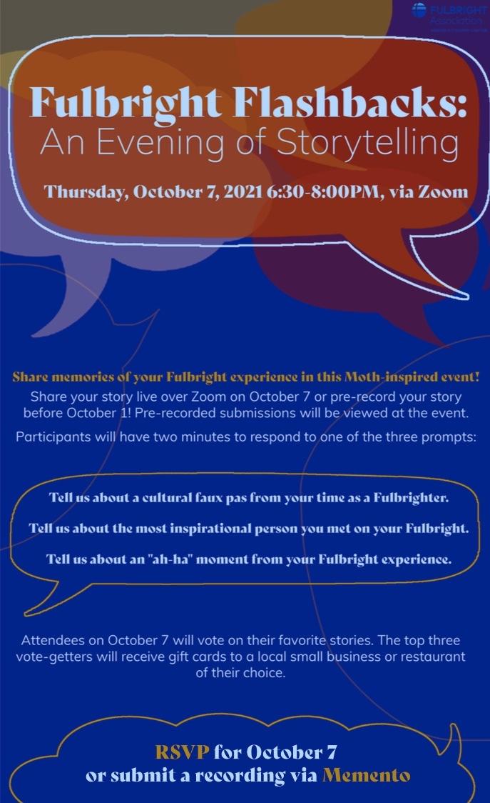 Fulbright Flashbacks: An Evening Of Storytelling