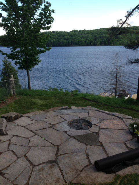 Patio Stone Installation  Luxury Home Builds