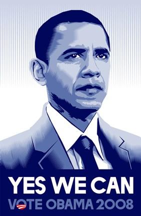 Barack Obama Yes We Can : barack, obama, Barack, Obama, Campaign, Poster, Unknown, FulcrumGallery.com