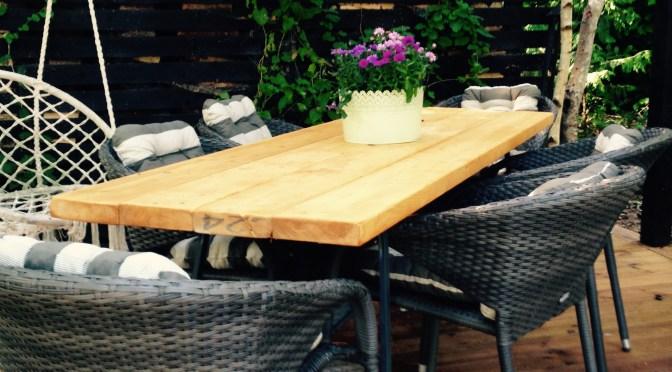 Plankebord : Byg-selv havebord