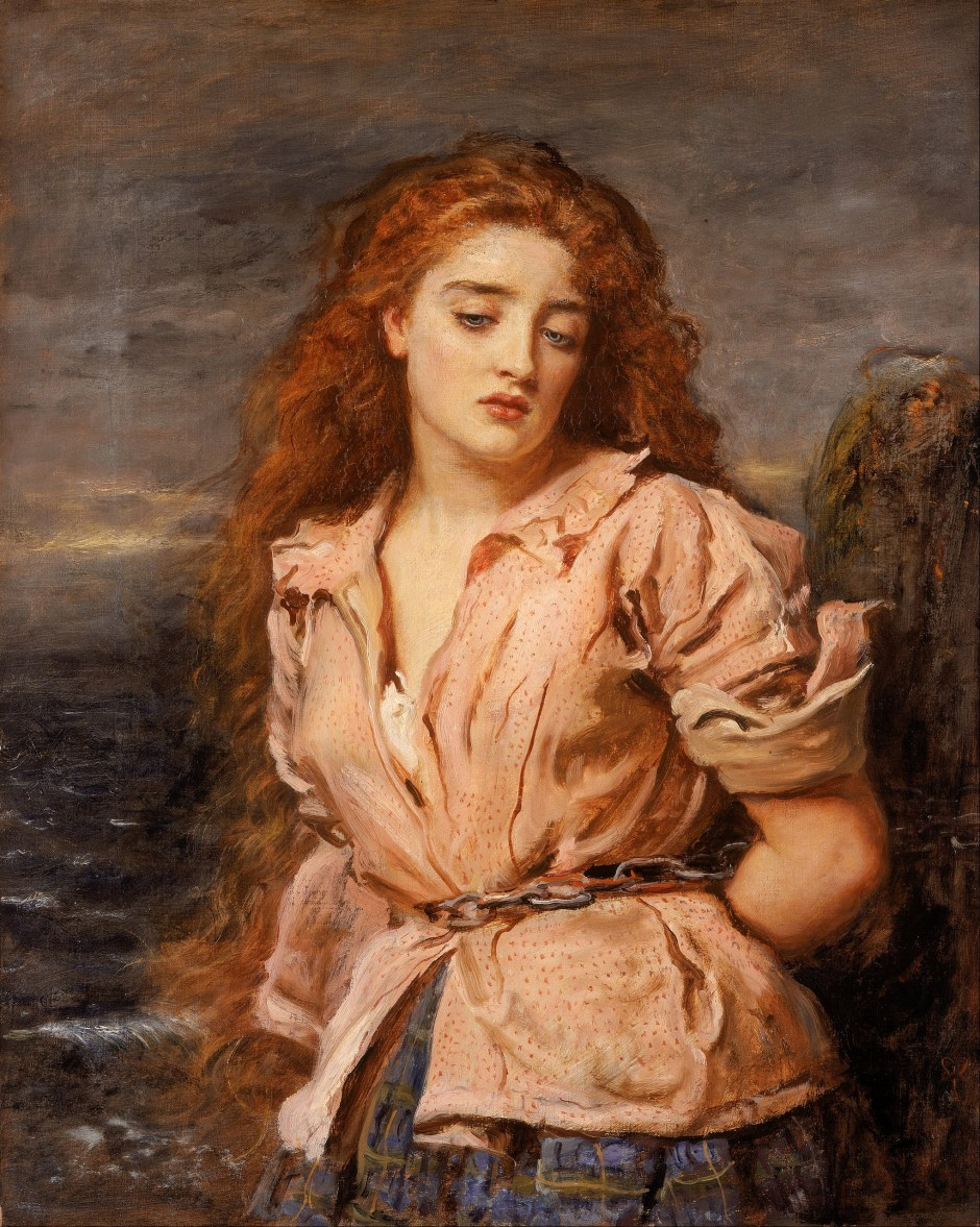 JOHN EVERETT MILLAIS - The Martyr of the Solway (Walker Art Gallery, Liverpool, c. 1871)