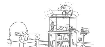 Animatie Fish Tank - Simons Cat
