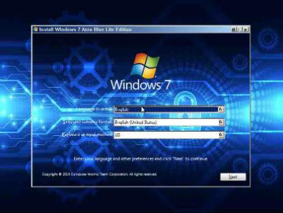 Windows 7 Aero Blue Lite Edition 2016 32bit Download s2