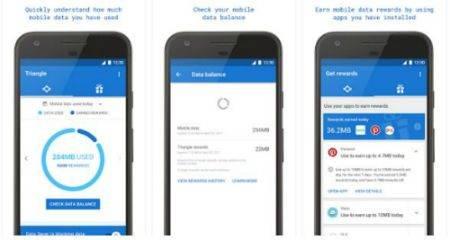 Google Triangle - Mobile data usage controller