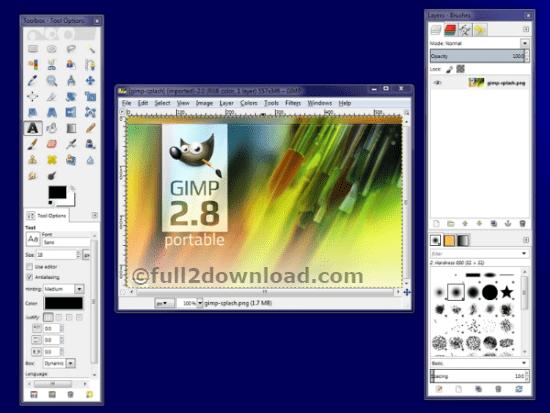 GIMP latest portable version free download