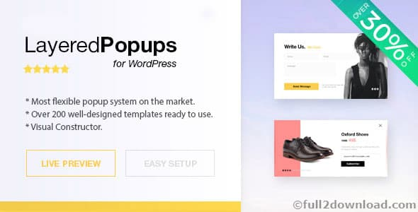 Layered Popups v6.19 - WordPress Plugin [Free Download]