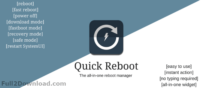 Quick Reboot Pro [ROOT] Full 1.6 Download - Patched AD Free