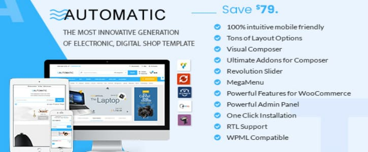 Download Automatic v1.7 – WooCommerce Theme for Digital Store