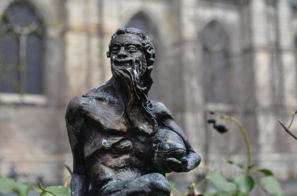 Male Sculpture at Saint John the Divine Church in Manhattan