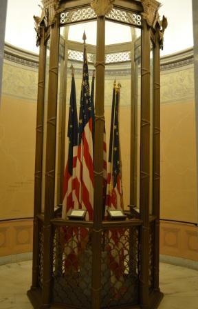 Grants Tomb Civil War Flags