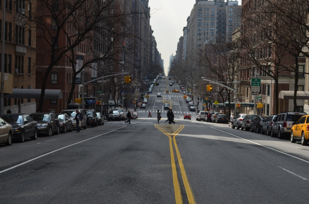 Looking Down West End Avenue