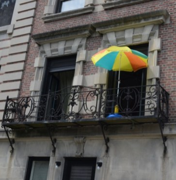 Deck Umbrella in Central Harlem