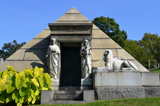 Pyramid Mausoleum at Green-Wood Cemetery
