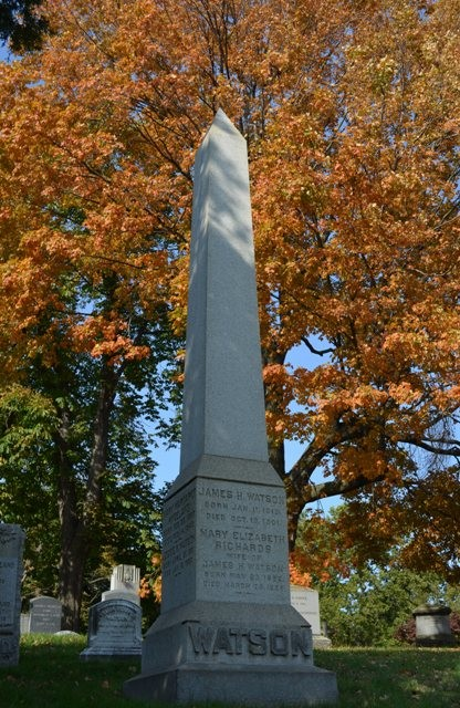 Obelisk at Green-Wood Cemetery