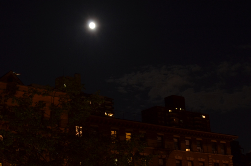 Supermoon Image Over New York City