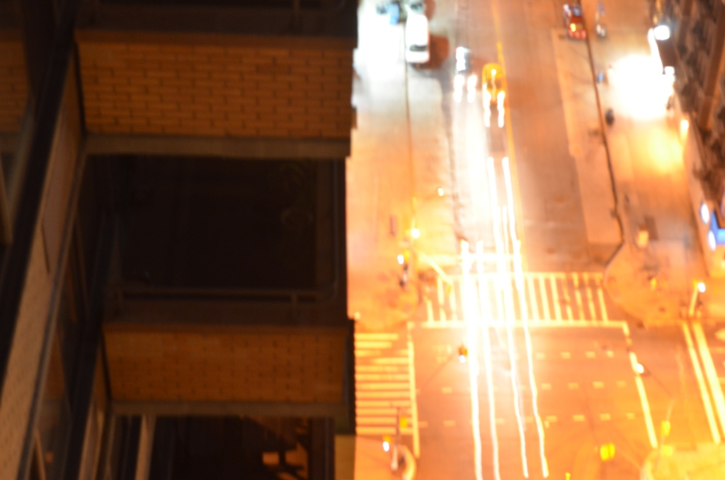 Nighttime Cars on the Upper West Side