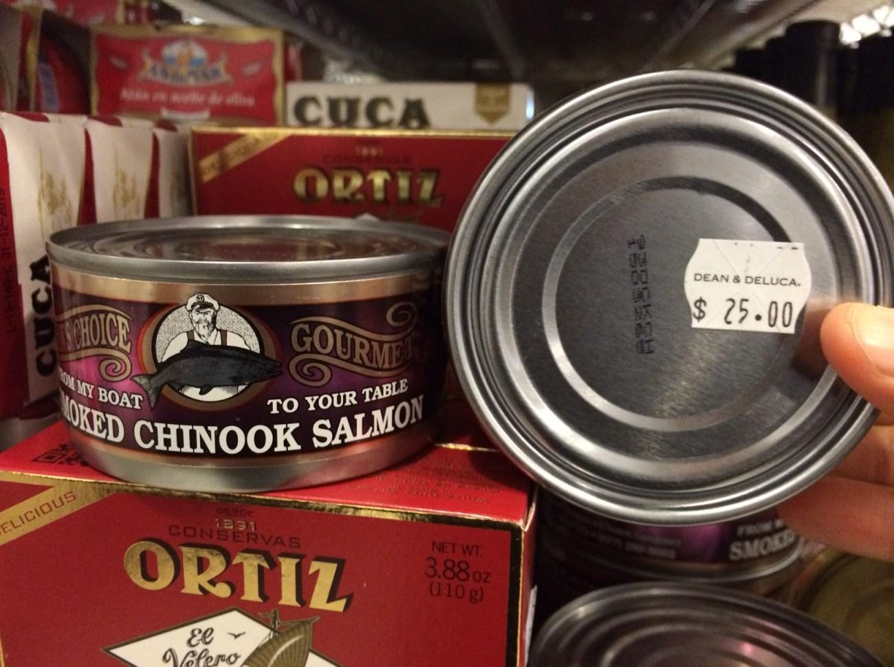 Canned Smoked Shinook Salmon