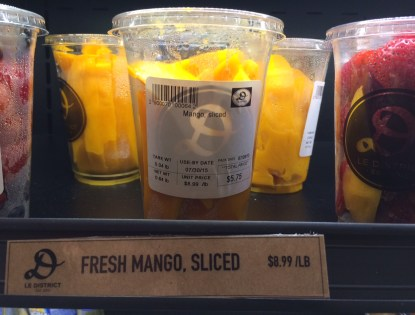 Sliced Mango at Le District in Battery Park City