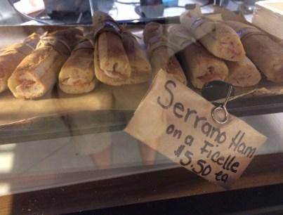 Serrano Ham Sandwich on Ficelle Bread at Le District in Battery Park City