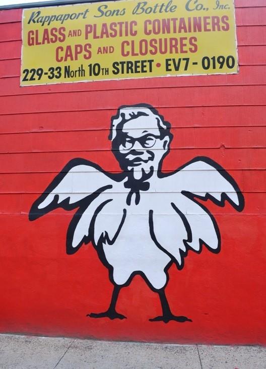 KFC The Colonel Street Art in Williamsburg Brooklyn