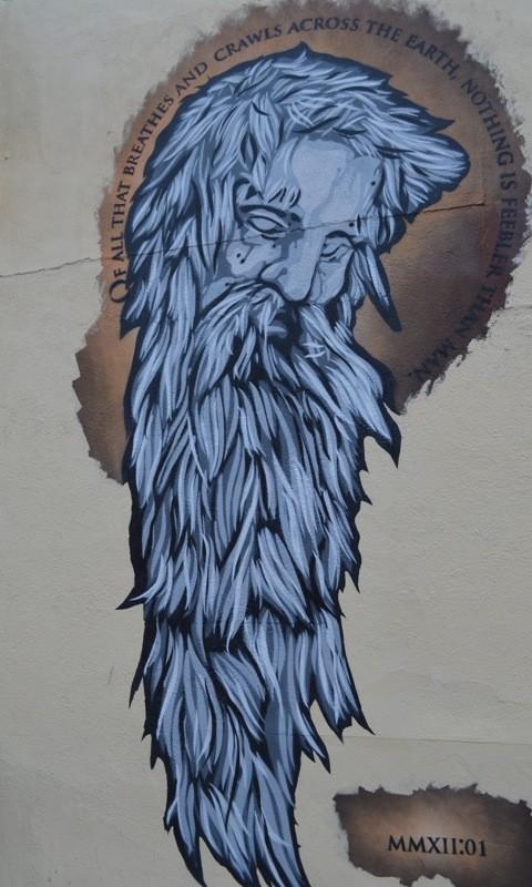 Brooklyn Street Art Bearded Man