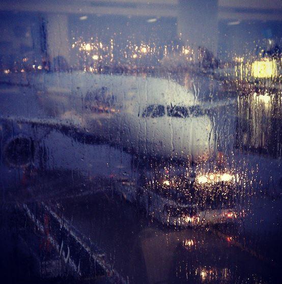 JFK Raining Day