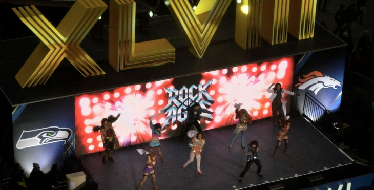 Rock of Ages on Super Bowl Boulevard