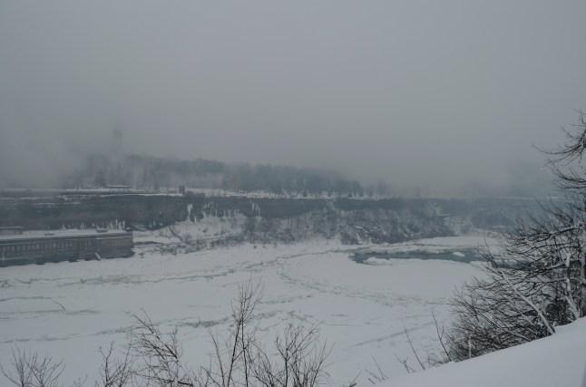 February is cold in Niagara Falls