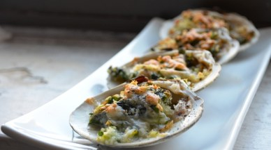 Cherry Stone Clams and Ramps Casino