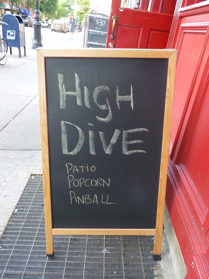 High Dive Sign