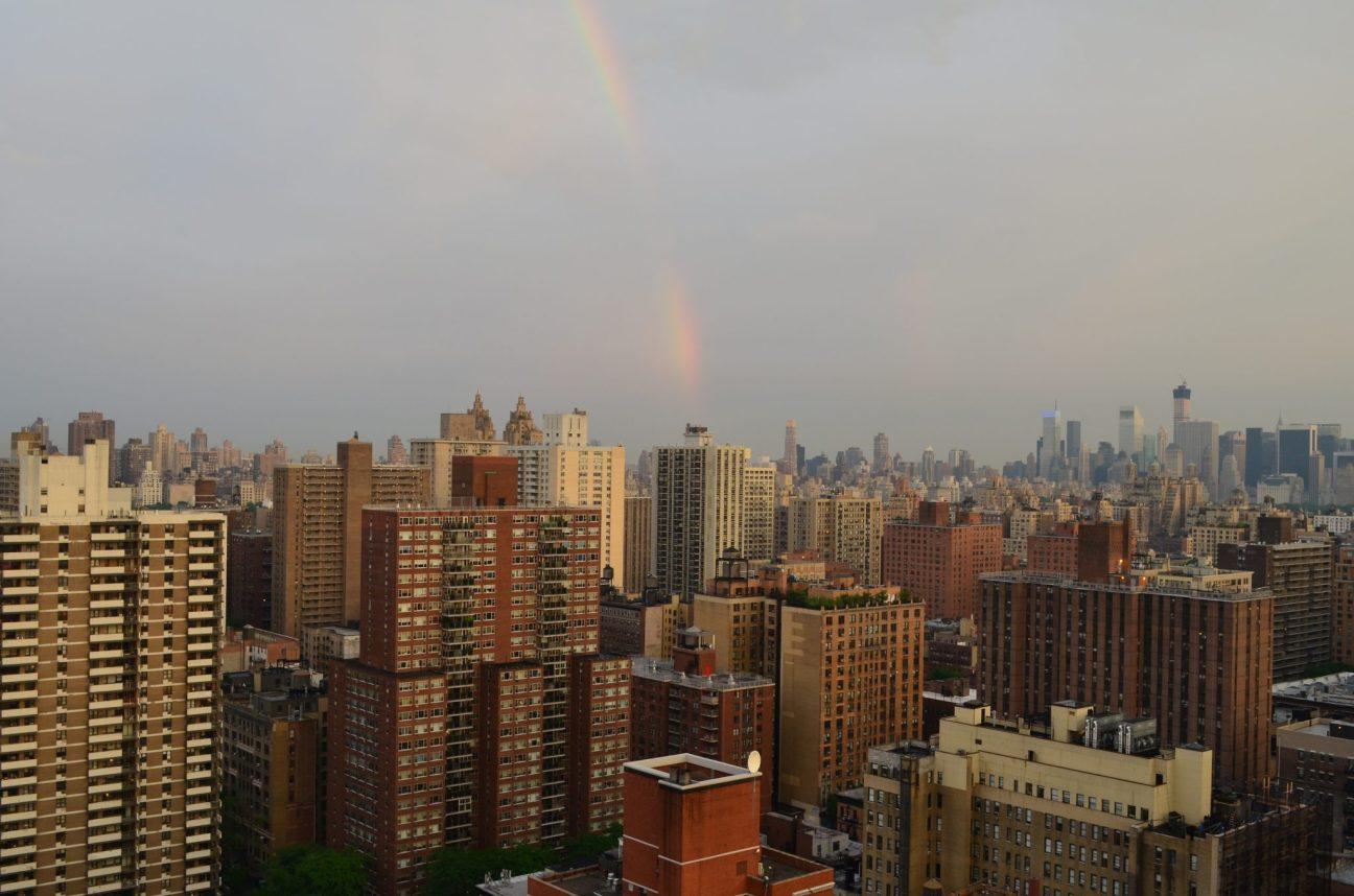 Rainbow Over Upper West Side Manhattan