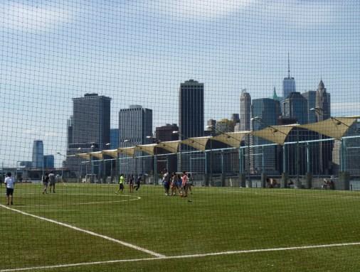 Soccer In Brooklyn Bridge Park