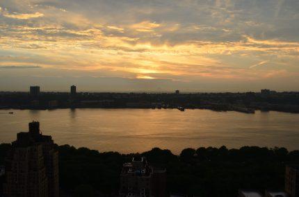 Sunset Over The Hudson River