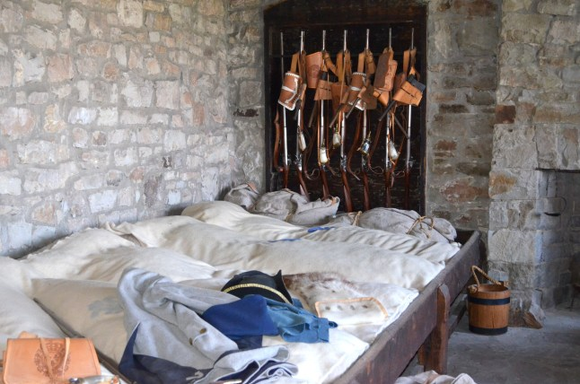 Fort Niagara Beds and Muskets