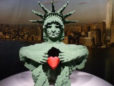 Lady Liberty by Nathan Sawaya