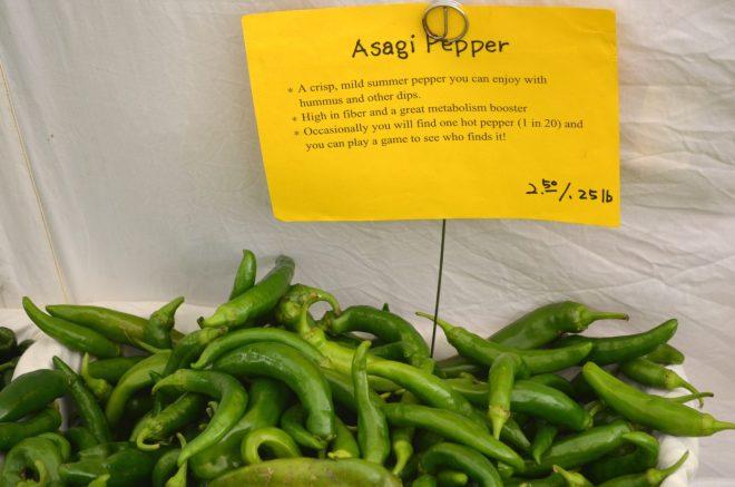 Asagi Peppers at the Green Market