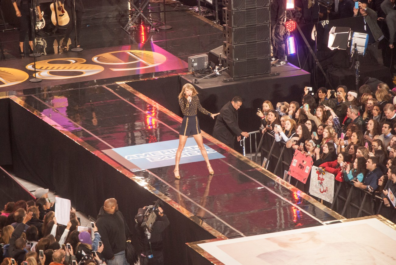 Taylor Swift Performance in Times Square