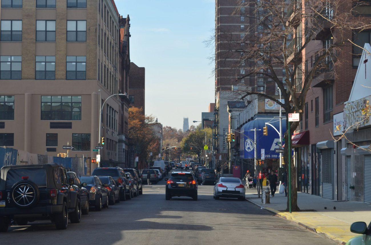 East Harlem Street Facing Riverside Church