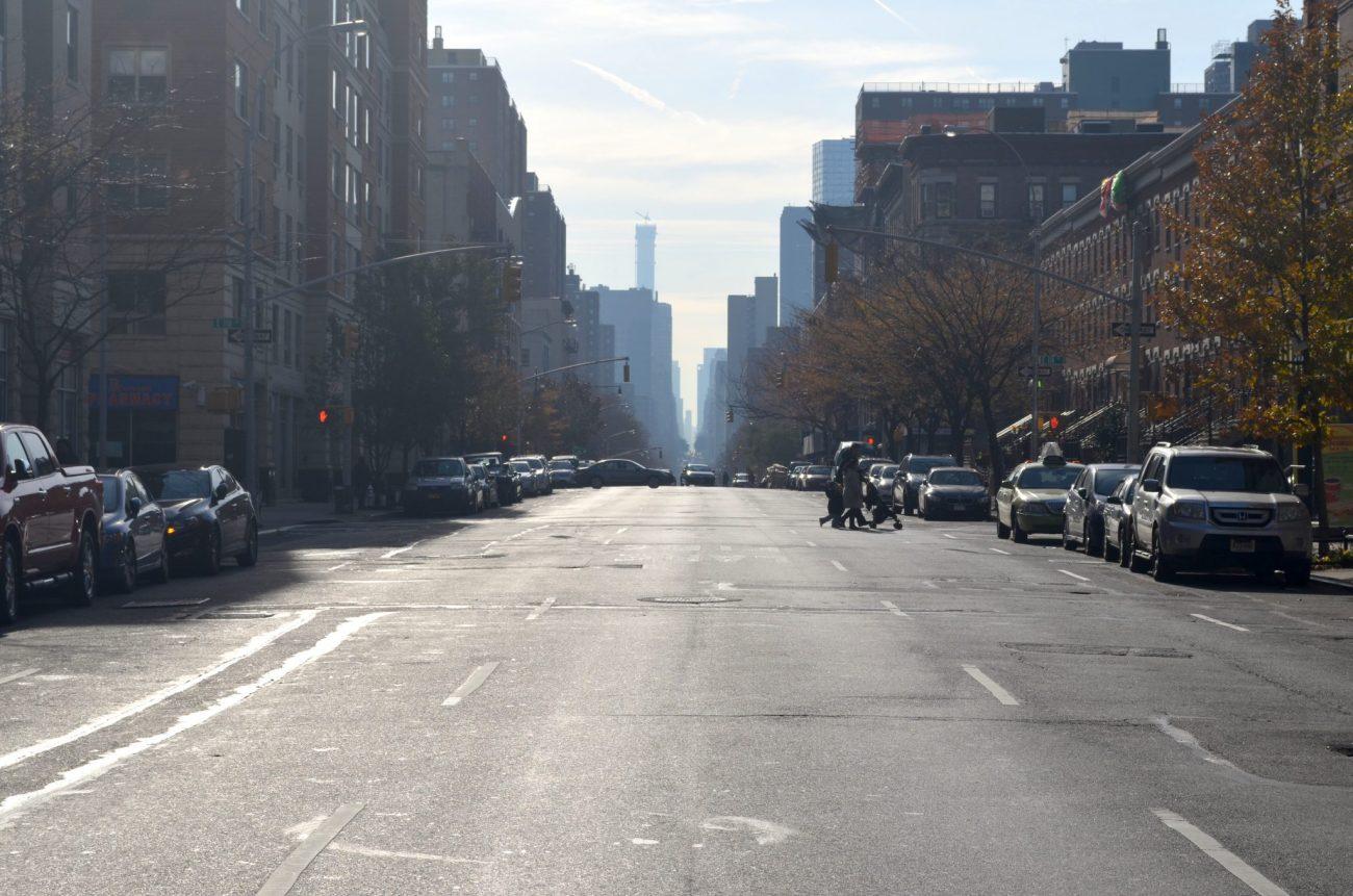 Fall day in Harlem New York City