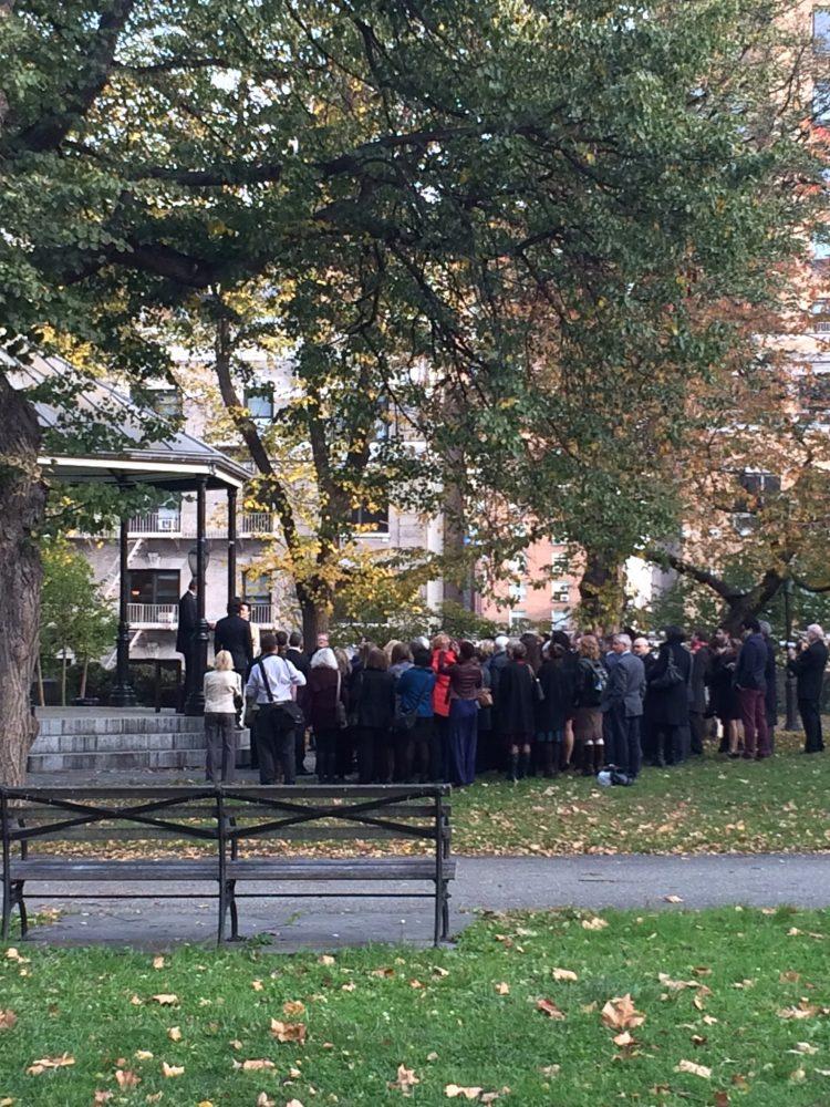 Outdoor Manhattan Wedding