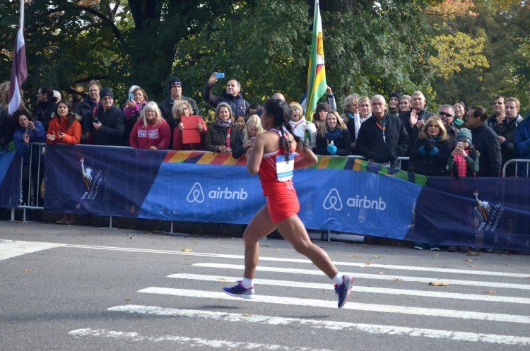 Female runner at the New York City Marathon