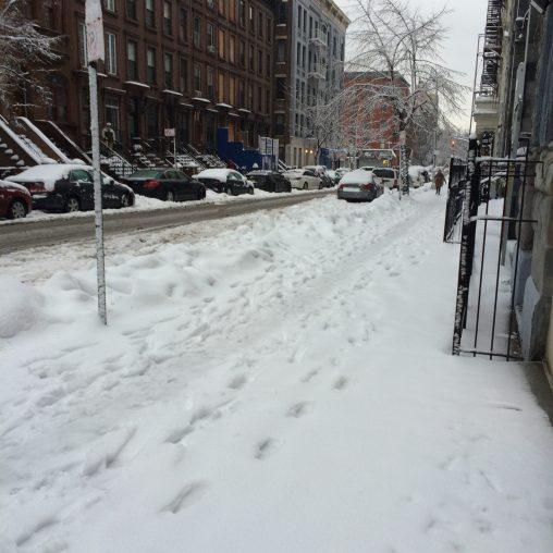 Shoe Tracks on 123rd Street