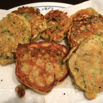 Final Plate of Ramp Fritters