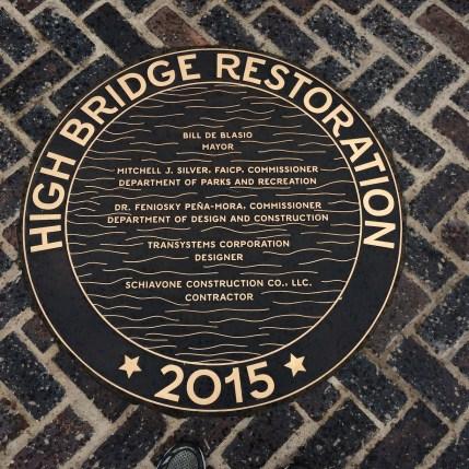 High Bridge Restoration 2015