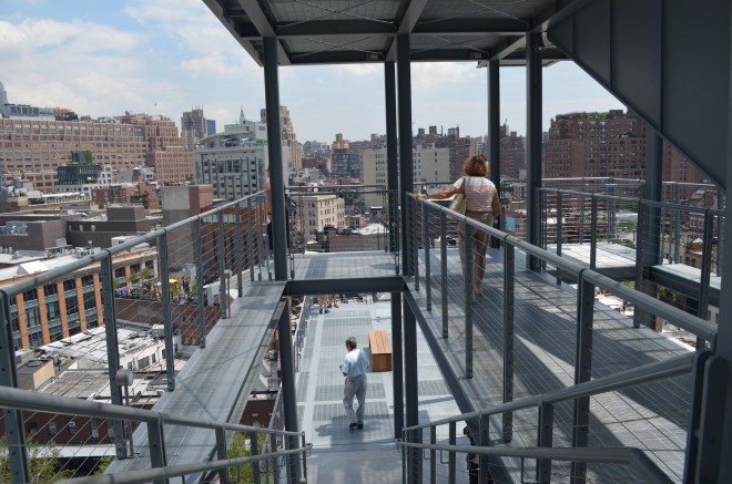Outside Stairs at The Whitney Museum in the Meat Packing District