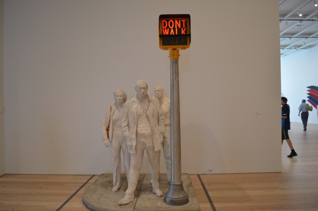 Don't Walk Sculpture at the Whitney