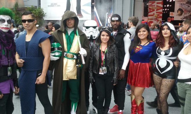 Superheros at the New York Comic Con