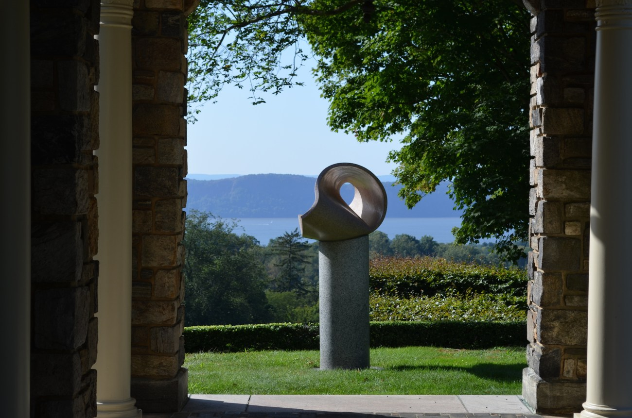 Sculpture with the Hudson River in the Background